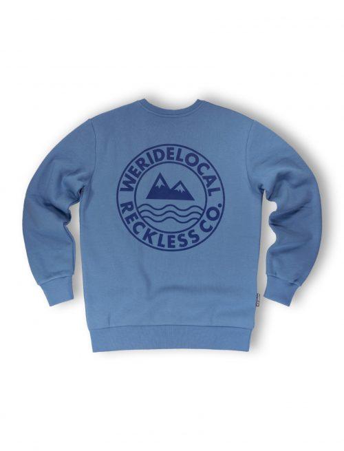 era indigo crewneck fw21 streetwear mountain waves