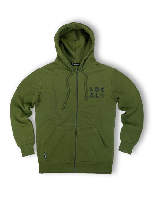 fella olive zipped hoodie fw21 streetwear