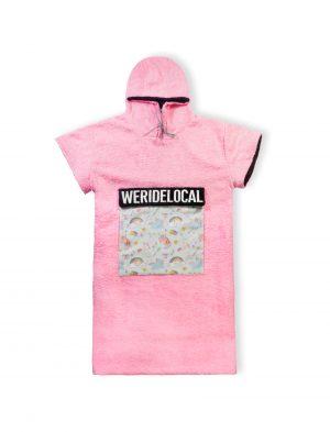 heartbreaker baby pink unicorn poncho kiteponcho kitesurf beachwear
