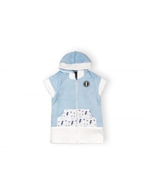 it's a boy baby cotton towel poncho mini local ss20