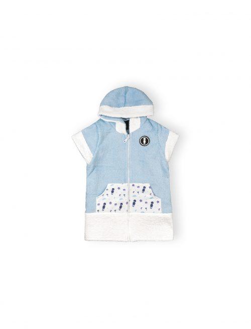 it's a boy baby cotton towel poncho mini local ss20