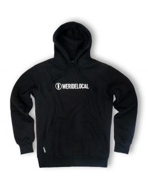 logotype streetwear black hoodie logo fw21