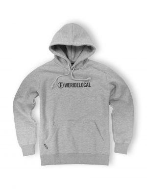 grey melange streetwear logo logotype hoodie apparel