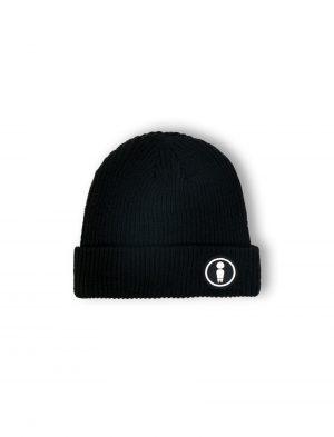 logo black patch woven beanie fw21