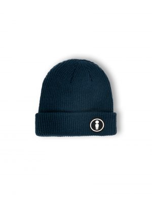 logo navy patch woven beanie fw21