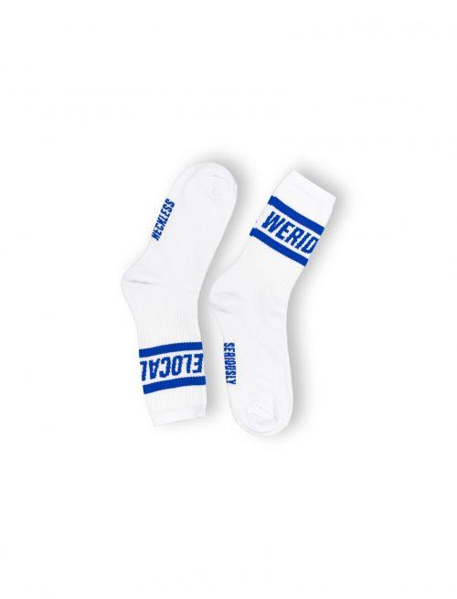 statement blue electric streetwear unisex cotton socks