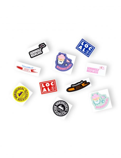 powdah surfers collection sticker pack