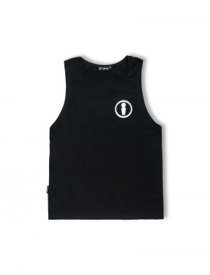 symbol black cotton tanktop ss20