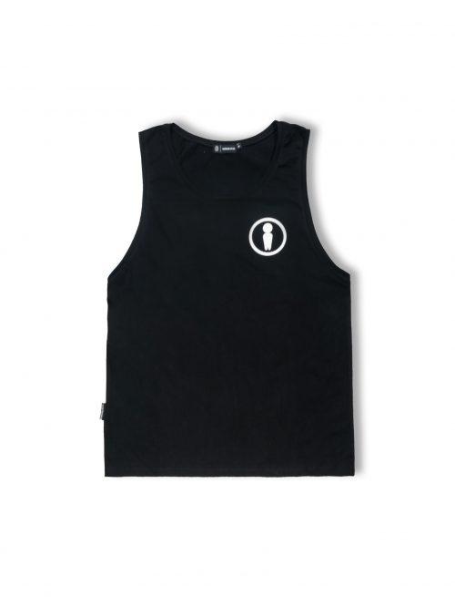 symbol black cotton tanktop ss20
