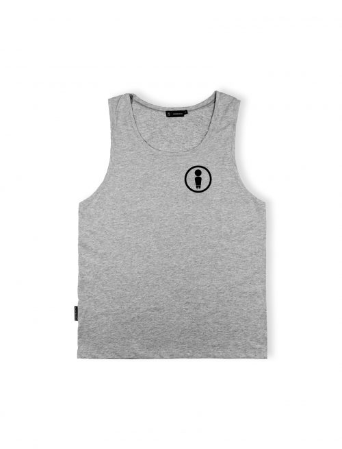 symbol grey tanktop cotton logo ss20