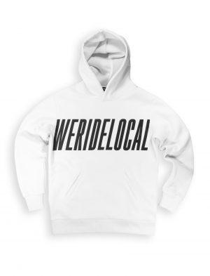 typo white hoodie logotype fw21