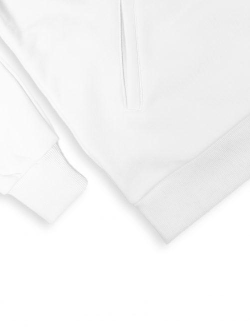 typo white hoodie logotype fw21 detail