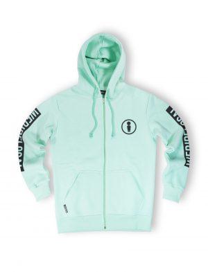 streetwear men union mint zipped hoodie fw21