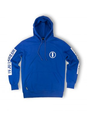 union blue electric logo hoodie print sleeve