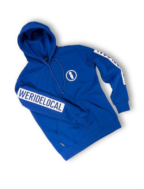 union blue electric logo hoodie print sleeve