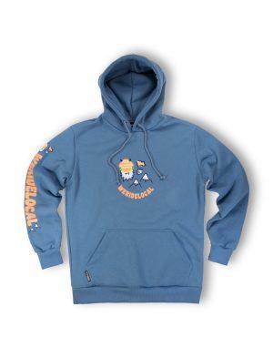 yes yeti indigo hoodie streetwear mountain fw21