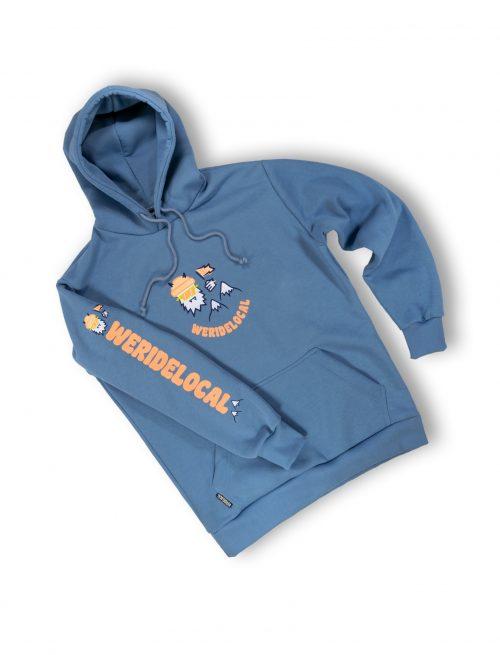 yes yeti indigo hoodie sleeve streetwear mountain fw21