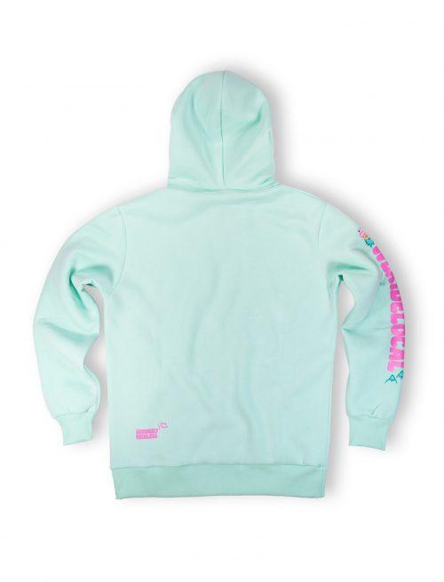 yes yeti mint hoodie streetwear mountain pastel fw21 detail reckless