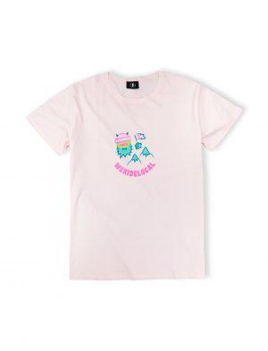 weridelocal yes yeti baby pink tee