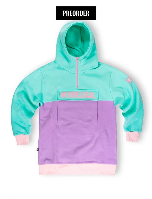 dreamy pastel half zipped hoodie fw21 we ride local
