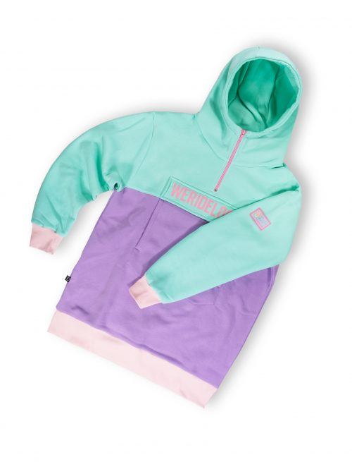 women oversized anorak hoodie dreamy pastel