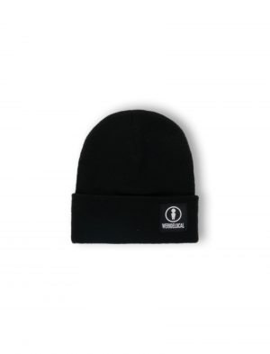 emblem black beanie we ride local logo
