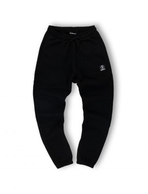 logo black sweatpants streetwear men