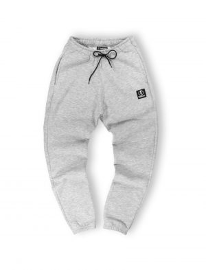 logo grey melange sweatpants streetwear men