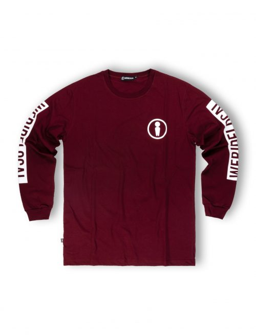 men burgundy longsleeve tshirt streetwear unisex