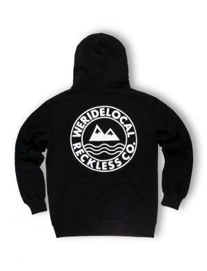 Black zipped hoodie strettwear fw21