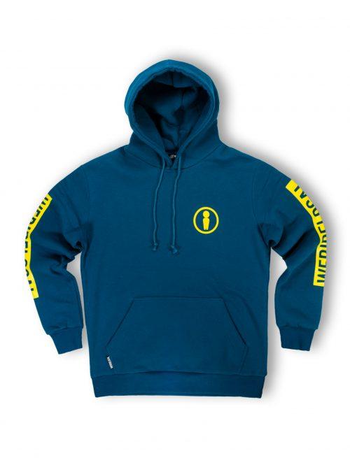 Forest blue hoodie fw21 streetwear