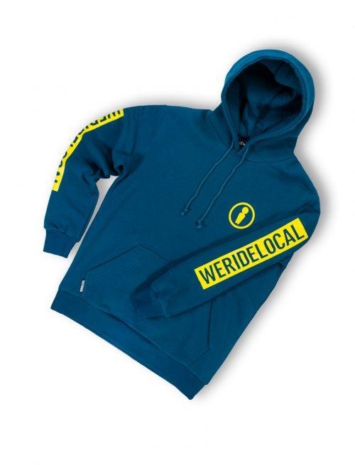 Forest blue hoodie streetwear fw21 unisex