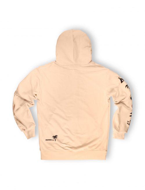 cream light zipped hoodie streetwear weridelocal ss21
