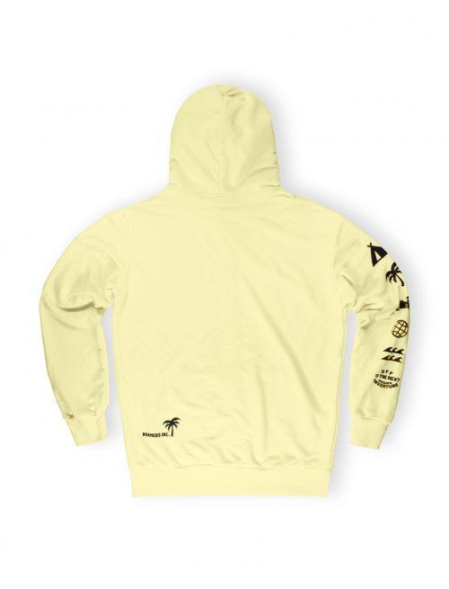banana light zipped hoodie streetwear weridelocal ss21