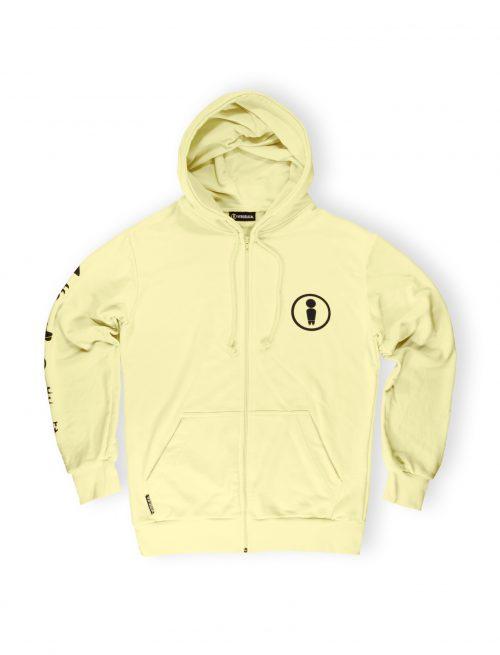 banana light zipped hoodie streetwear weridelocal ss21 front