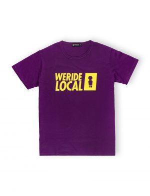 we ride local purple mark logo tee