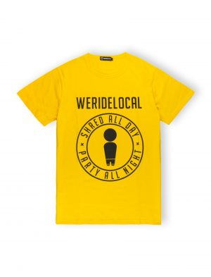 WE RIDE LOCAL SHRED PARTY YELLOW TEE TSHIRT