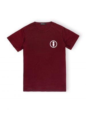 we ride localsymbol burgundy maroon tshirt logo