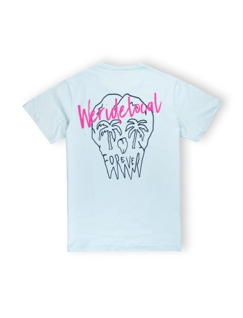 we ride local iced blue forever tee tshirt unisex magenta