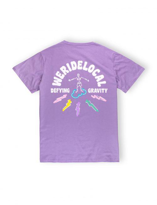 we ride local tshirt defying gravity lilac surf