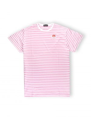 HOLA STRIPES OVERSIZED WE RIDE LOCAL PALM PATCH WOMEN TEE