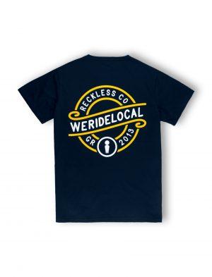 we ride local emblem navy tshirt ss21