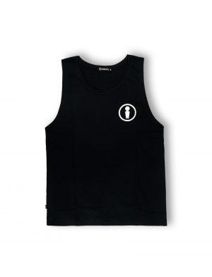 we ride local tanktop cotton black logo symbol