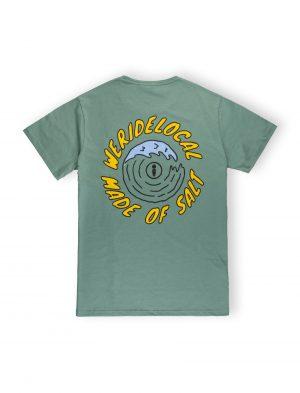 we ride local made of salt cactus green cotton tee tshirt