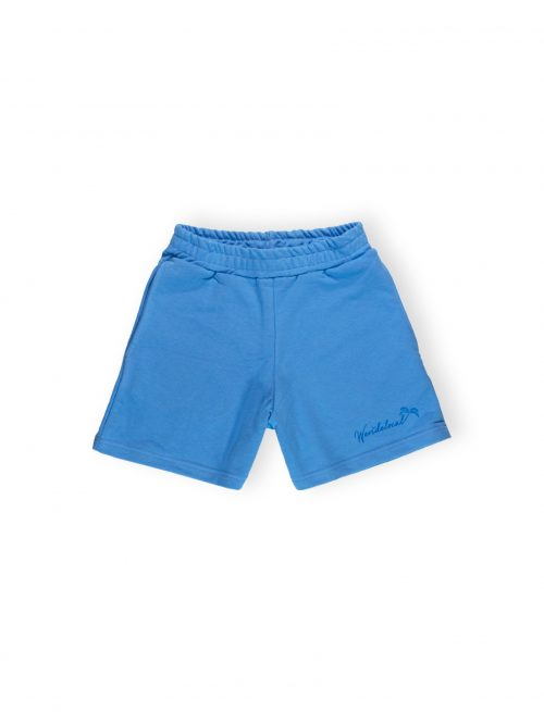 play sky blue women shorts palm graphic