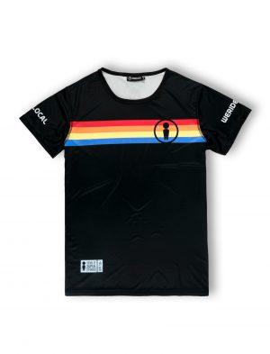 we ride local rays black rash vest tee lycra tshirt stripes ss21