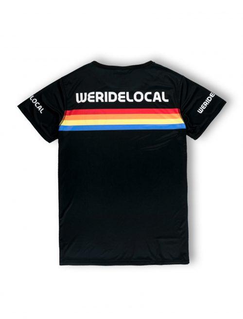 rays black back logo stripes ss21 rashvest tshirt lycra kitesurf